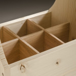 Beer Caddy Red Oak Divider detail