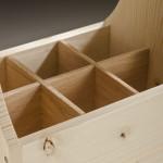 Beer Caddy Red Oak Divider detail